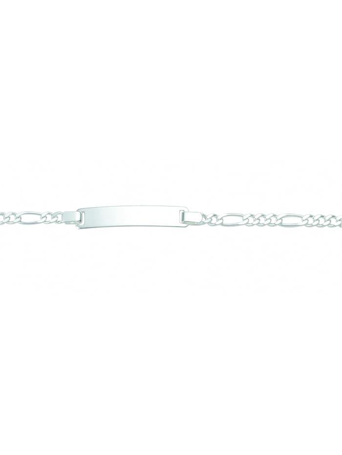 1001 Diamonds Damen Silberschmuck 925 Silber Figaro Armband 16 cm Ø 3,1 mm, silber