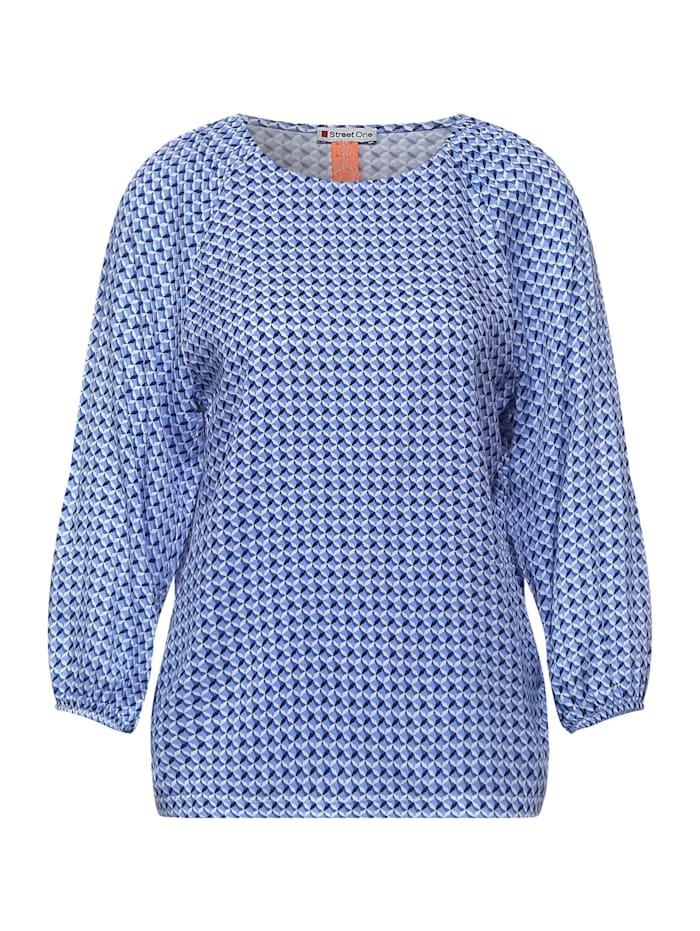 Street One Shirt mit grafischem Print, warm blue