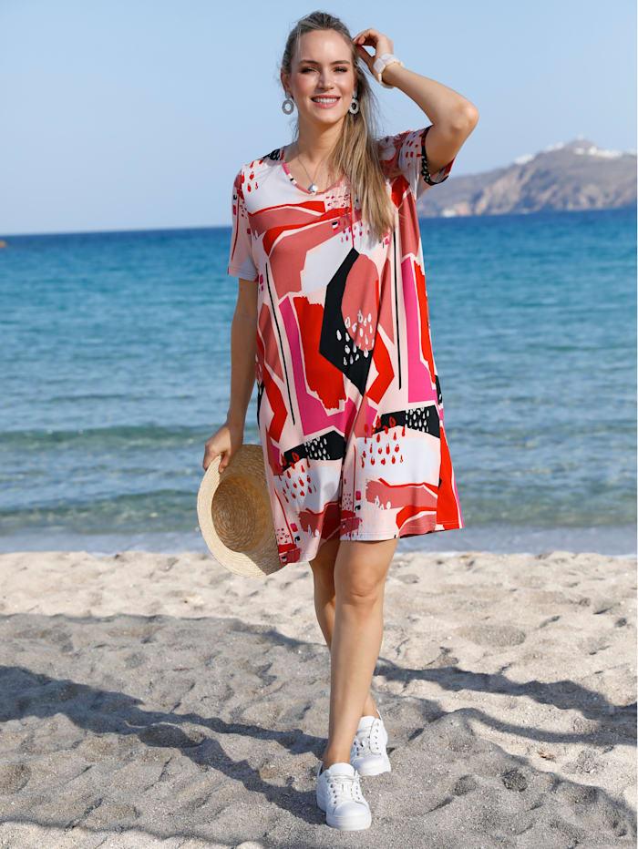 MIAMODA Robe en fine maille, Multicolore
