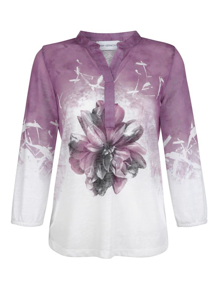 AMY VERMONT Shirt met motief voor, Wit/Paars