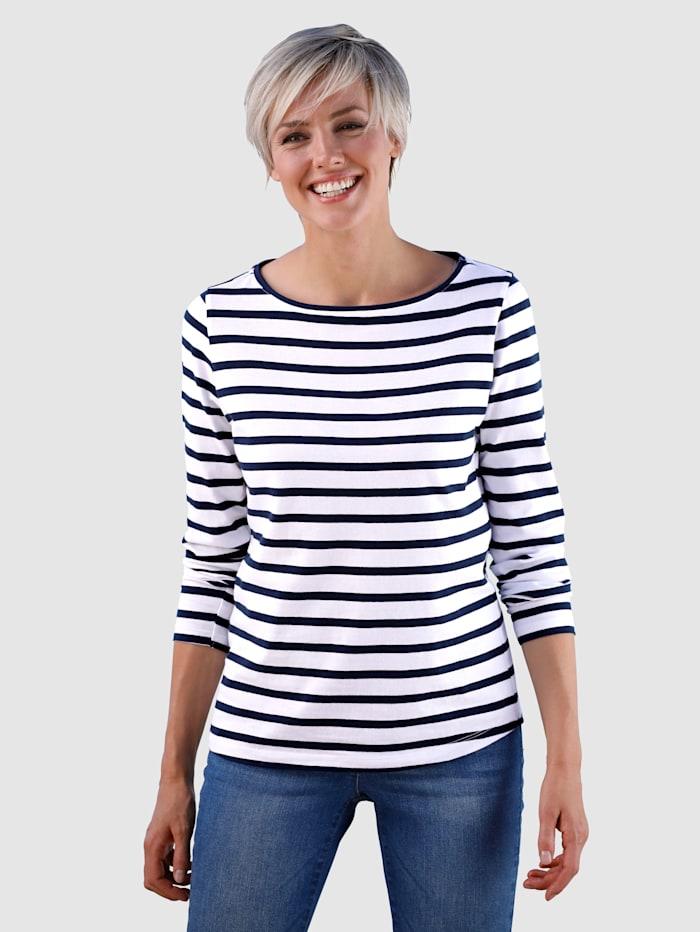 Dress In Raitakuosinen paita, Laivastonsininen/Valkoinen