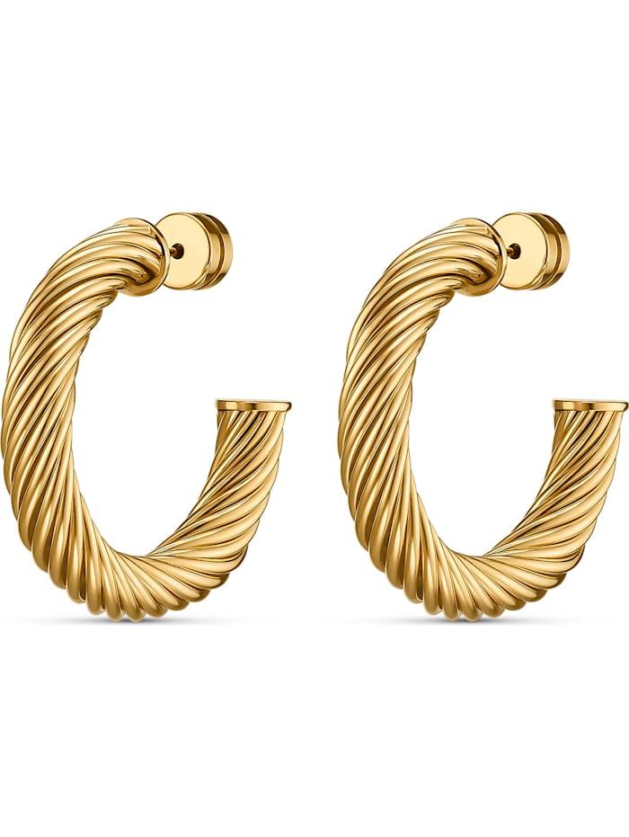 FAVS. FAVS Damen-Creolen Edelstahl, gold