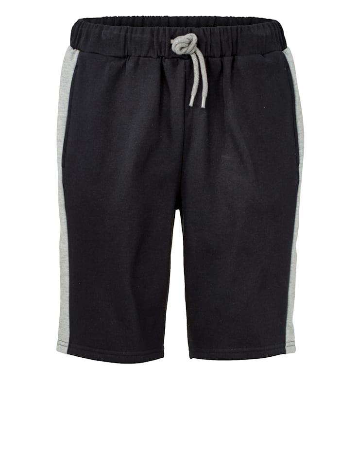 Men Plus Shorts i sweatshirtmaterial, Marinblå/Grå