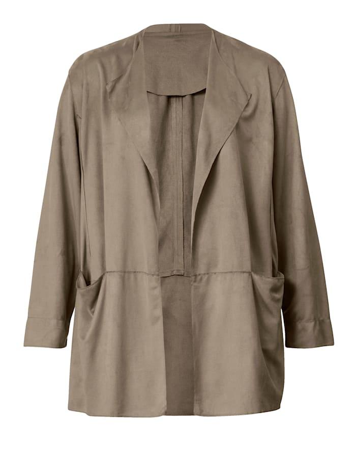 Veste en cuir synthétique avec poches pratiques