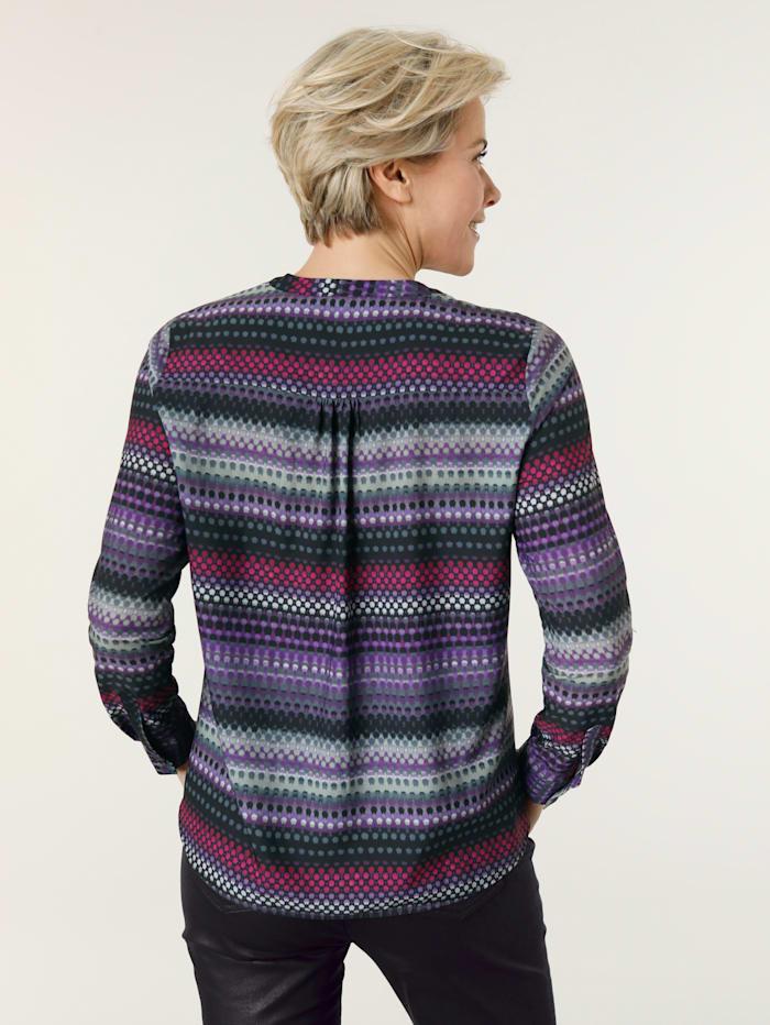 Bluse mit effektvollem Farbverlauf