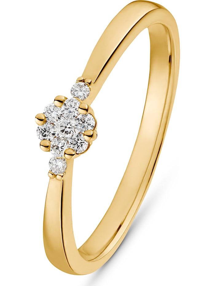 CHRIST C-Collection CHRIST Damen 585er Gelbgold 7 Diamant, gelbgold