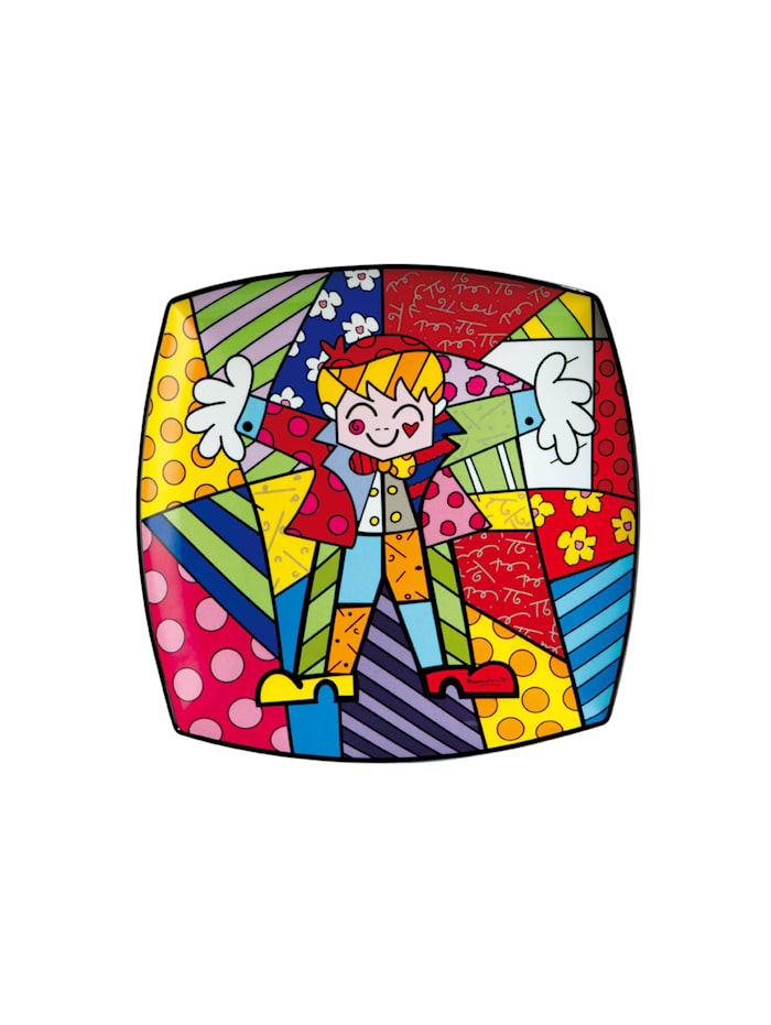 "Goebel Goebel Wandteller Romero Britto - ""Hug Too"", Britto - Hug Too"