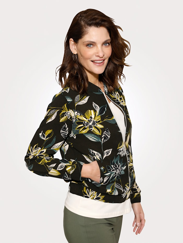 Bluse in Blouson-Form