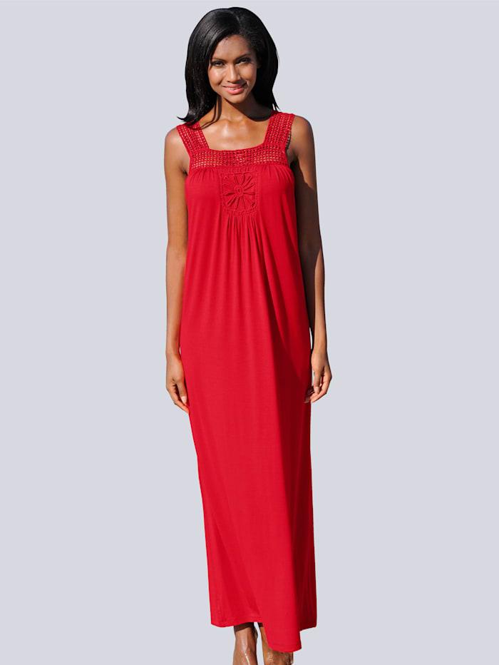 Alba Moda Kleid in Maxilänge, rot