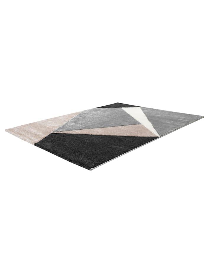 Cats Collection Design Teppich Konturenschnitt Hochglanzgarn taupe, taupe