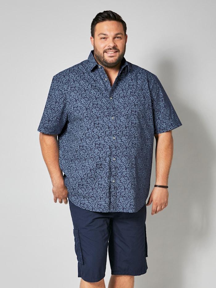 Men Plus Overhemd in speciaal model, Marine/Lichtblauw