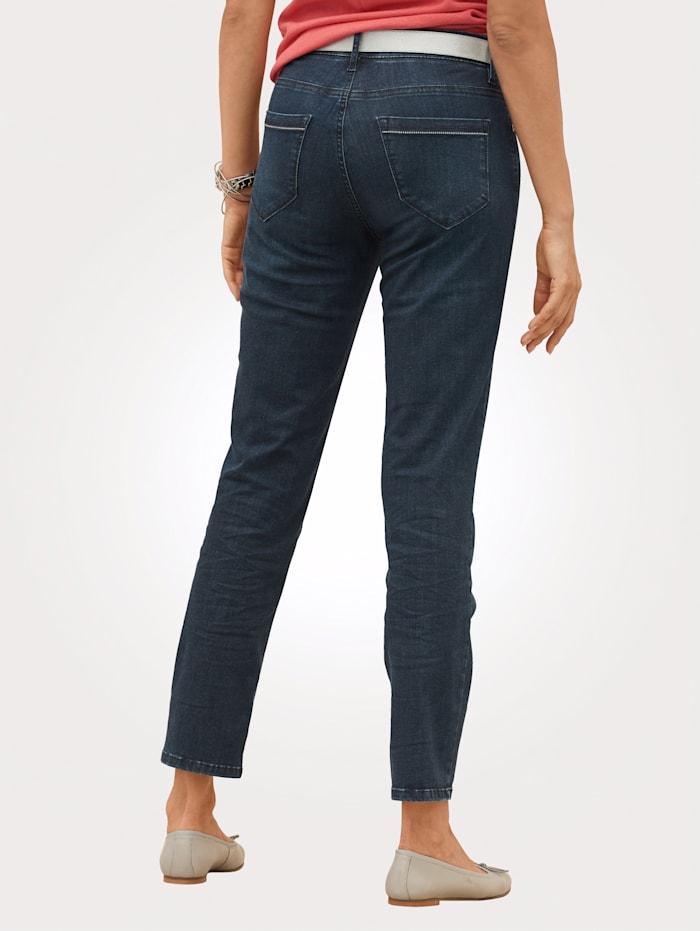 Jeans met subtiel washed effect