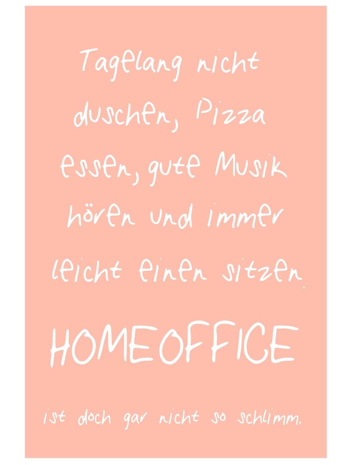 """IMPRESSIONEN living Metallschild """"Homeoffice"""", Pfirsich/Weiß"""