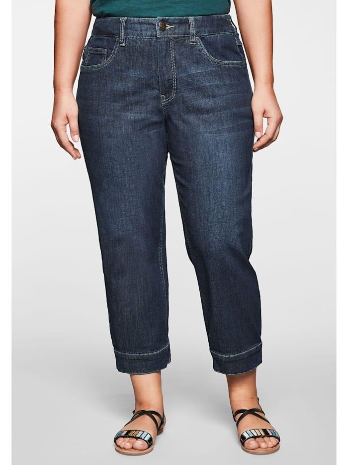 Sheego Jeans Pumpjeans in 7/8-Länge, dark blue Denim