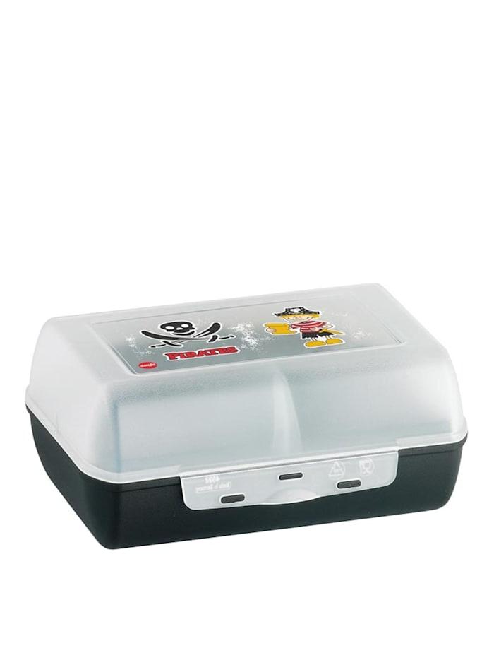 EMSA Clipbox mit Trennwand Pirate Variabolo, Transparent, Schwarz