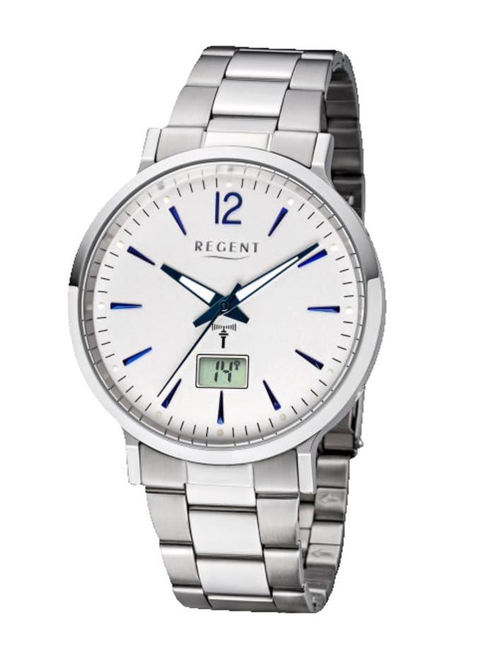 Regent Herren-Funk-Uhr 11030170, Silberfarben