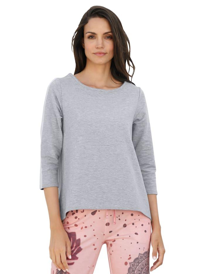 AMY VERMONT Sweatshirt met stolpplooi, Grijs/Roze
