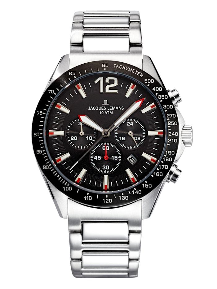 Jacques Lemans Herren-Chronograph Uhr, Schwarz