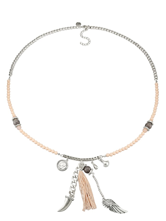 Halskette mit versch. Elementen