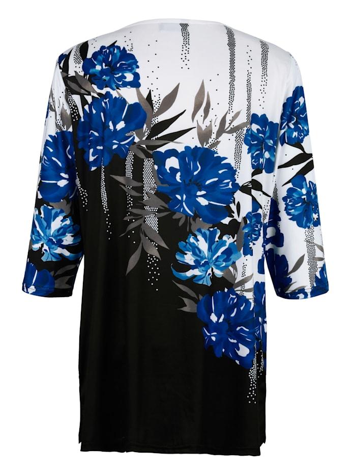 Dlhé tričko s kvetinovým dizajnom potlače