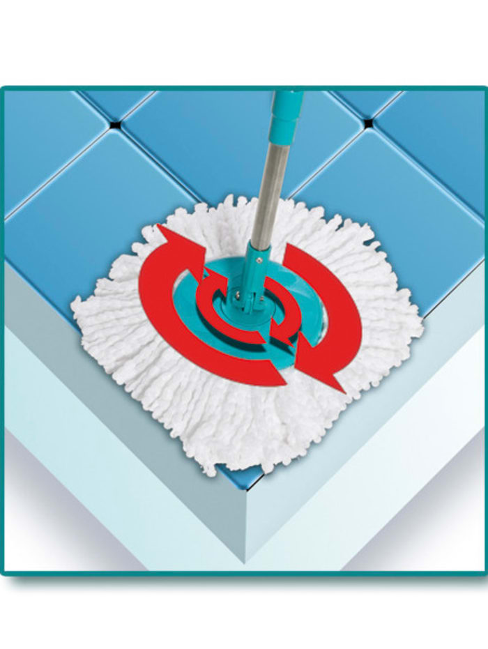 Vloerwissysteem 'Clever Spin®' met dubbele emmer