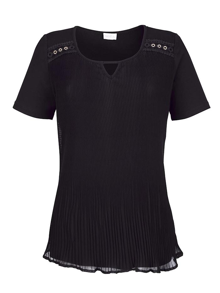 Shirt met plissé