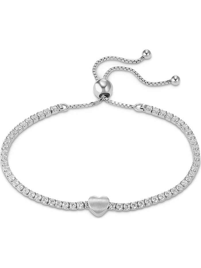 FAVS. FAVS Damen-Armband Valentin 925er Silber 60 Zirkonia, silber