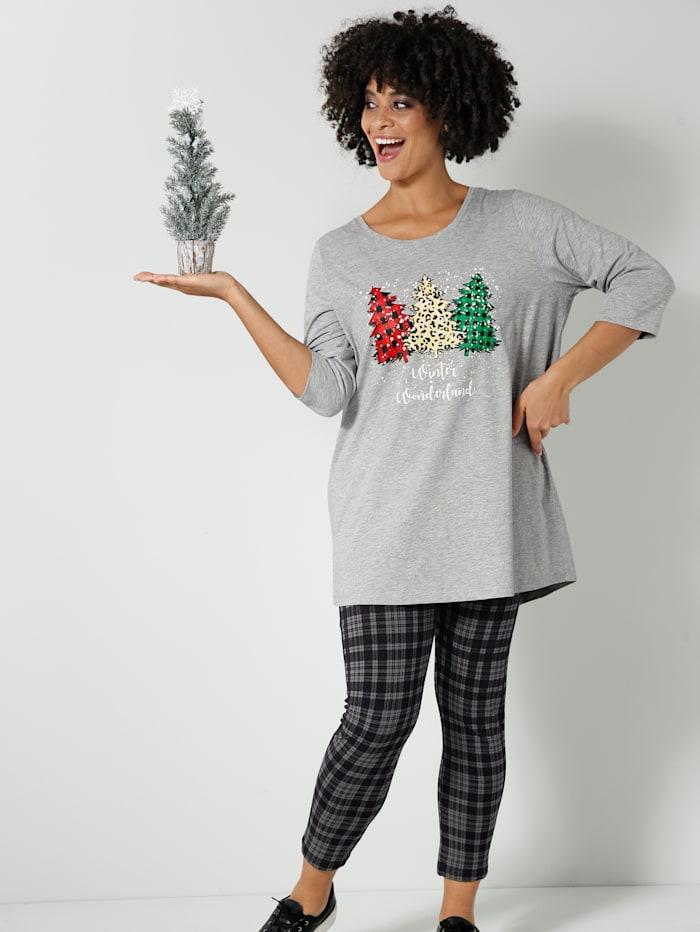 Shirt mit weihnachtlichem Motiv