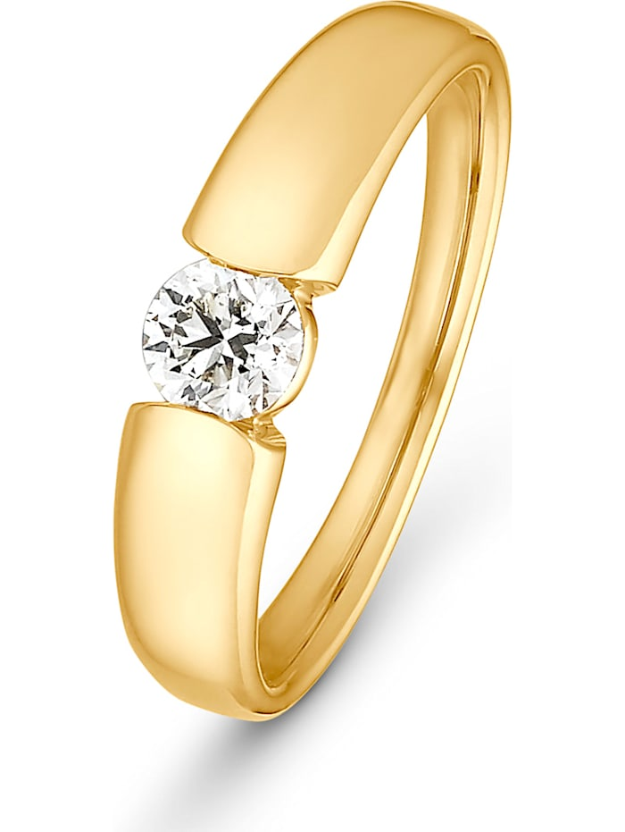 CHRIST C-Collection CHRIST Damen-Damenring 1 Diamant, gelbgold