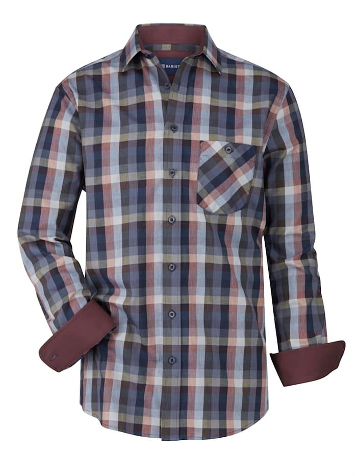 BABISTA Chemise avec motif à carreaux tissé-teint, Bleu/Prune