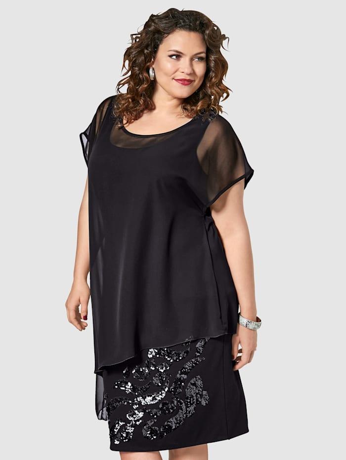 2-in-1-Kleid mit Pailletten