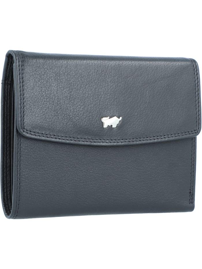 Braun Büffel Golf Edition Geldbörse Leder 12 cm, schwarz