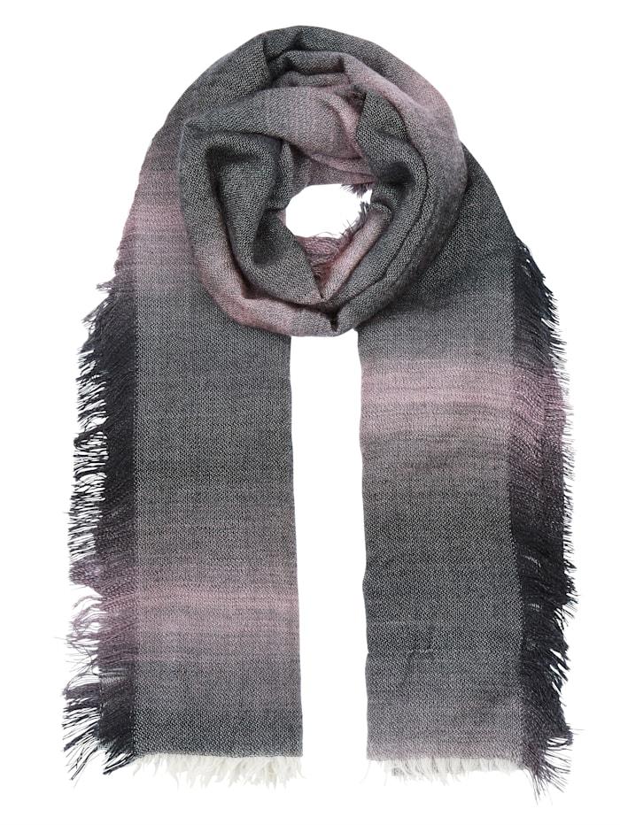 MONA Sjaal, grijs/roze