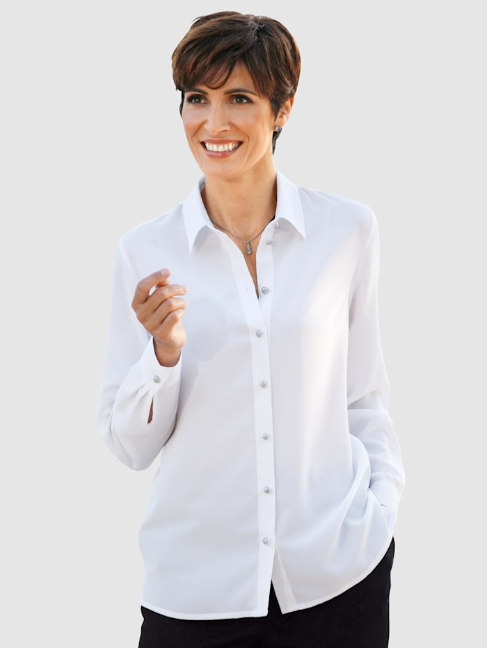 Paola Blouse Relaxed fit, White