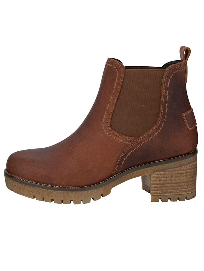 Chelsea-boots med diskreta, slitna effekter