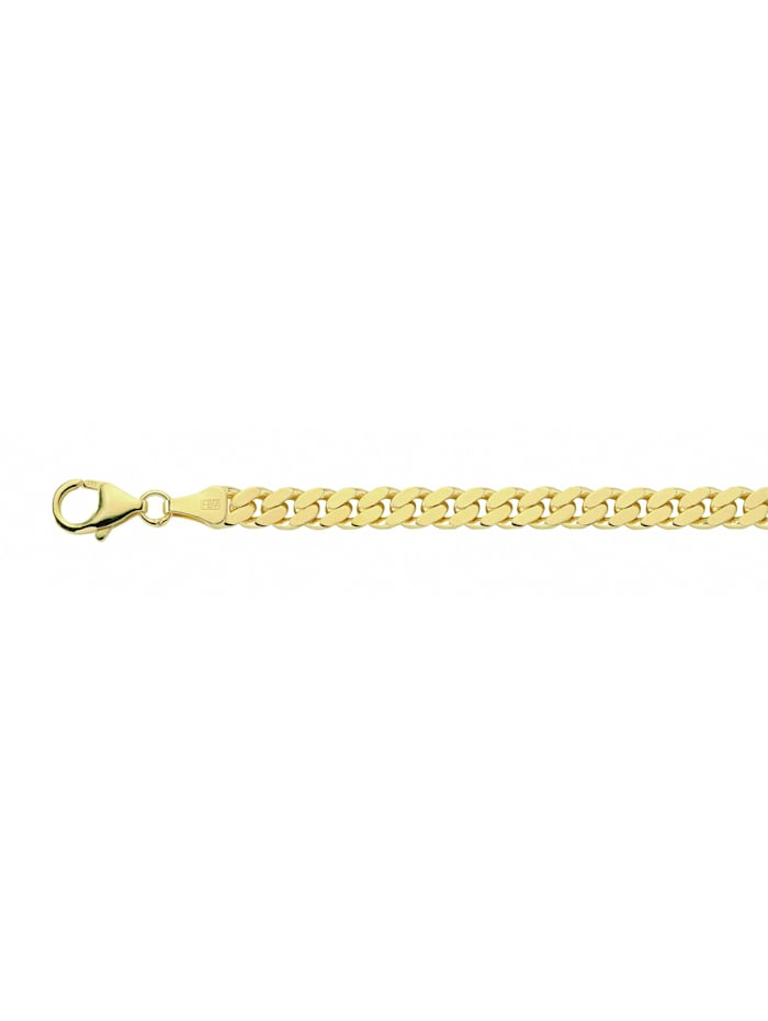 1001 Diamonds Damen Silberschmuck goldplattiert Flach Panzer Halskette 50 cm, gold