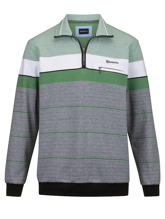 BABISTA Sweat-shirt dans une matière agréable à porter, Marine/Vert