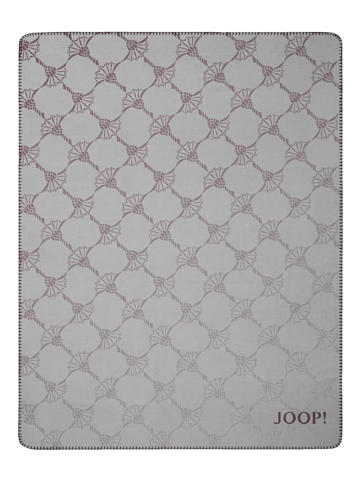 JOOP! Wohndecke 'Cornflower-Double', Graphit/Bordeaux