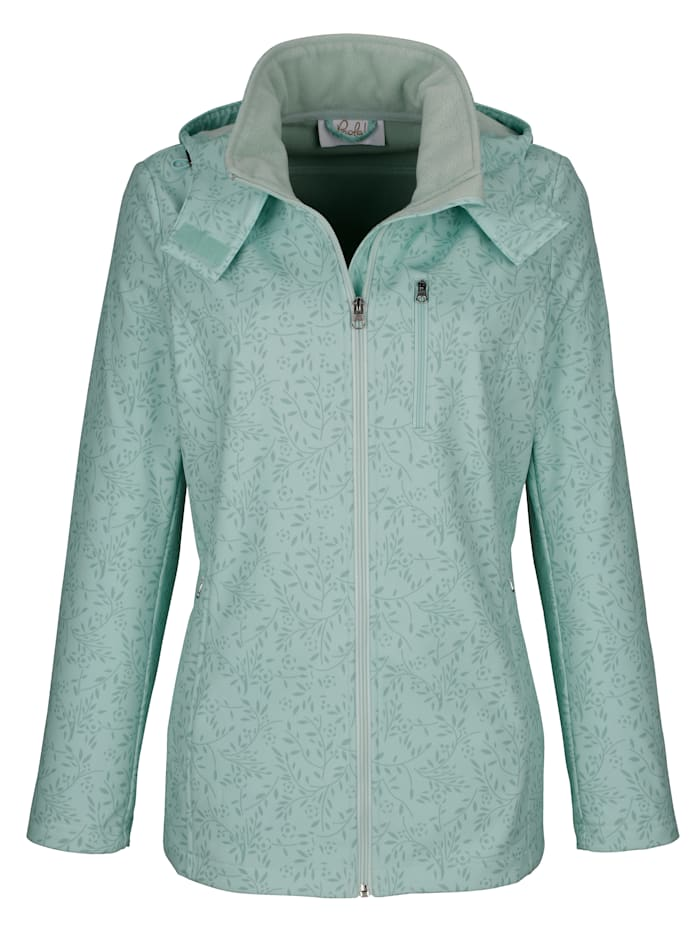 Paola Softshell jas met warme fleece voering, Mint