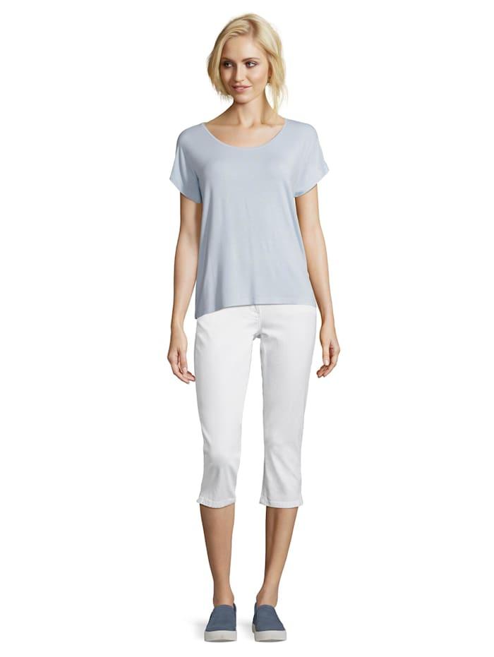 Betty Barclay Halbarm-Shirt mit Punkten, Light Blue/Cream