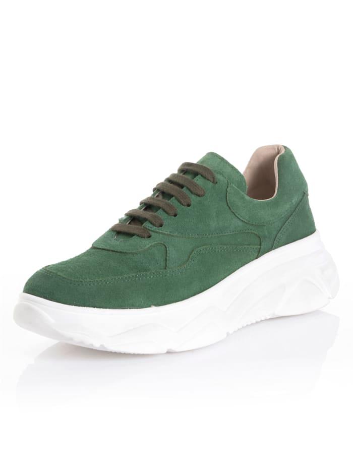 Alba Moda Sneakers de coloris tendance, Vert
