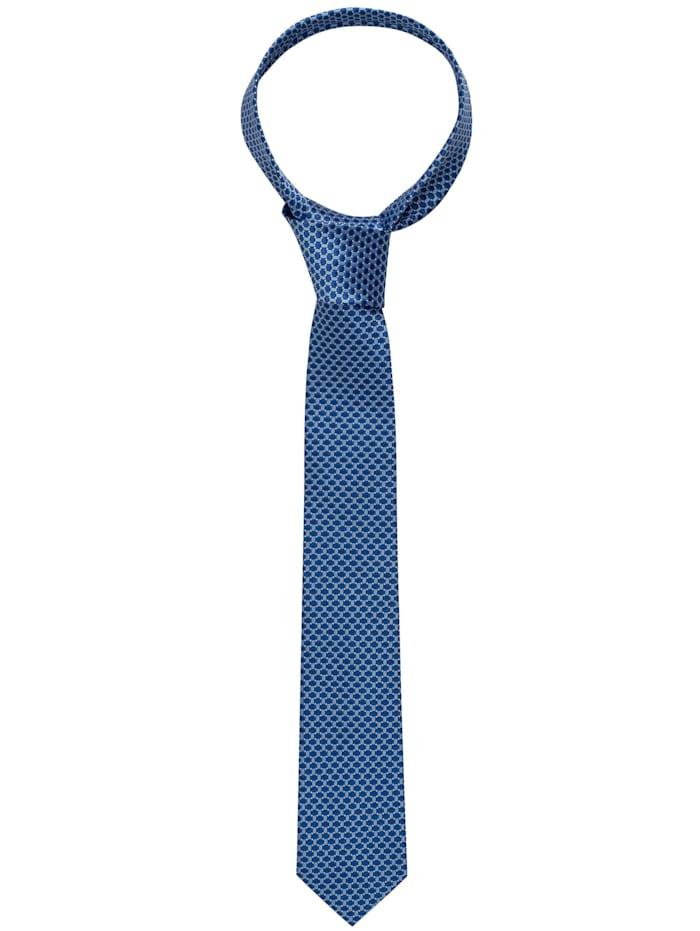 Eterna Eterna Krawatte schmal, hellblau/marine