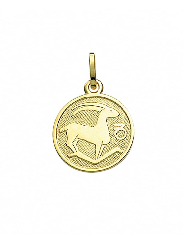 1001 Diamonds Damen & Herren Goldschmuck 333 Gold Sternzeichen Anhänger Steinbock Ø 11,8 mm, gold
