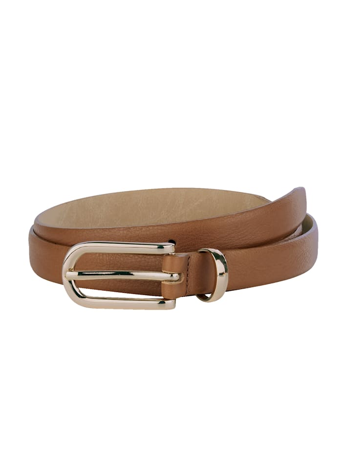 MONA Leather belt, Cognac