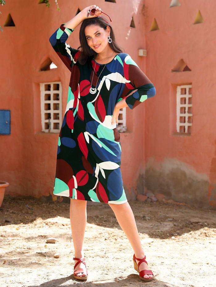 MIAMODA Robe en jersey, Multicolore
