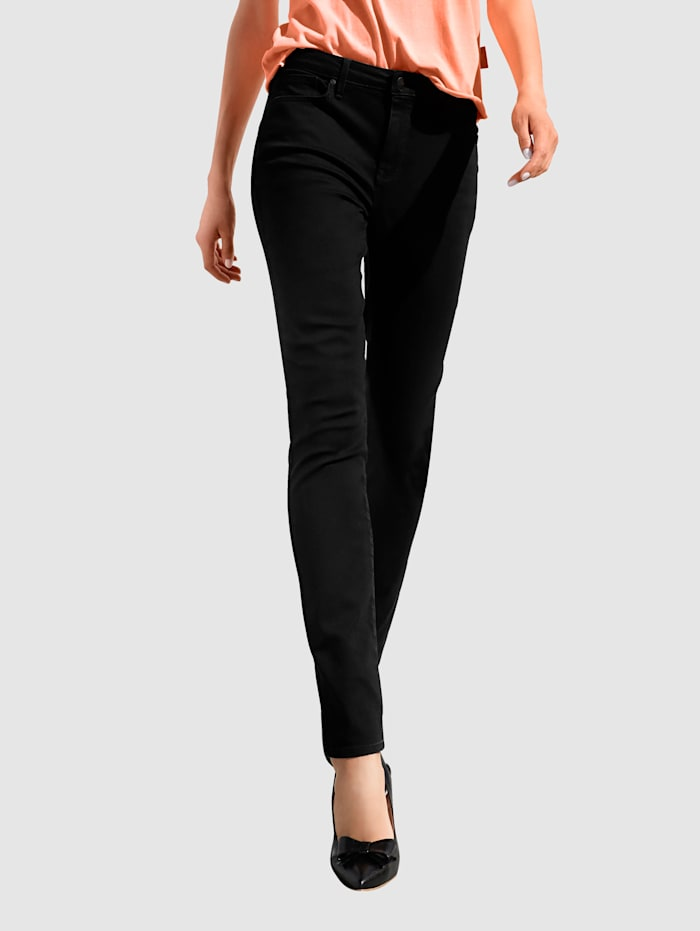 NYDJ Jeans mit Shaping-Effekt, Schwarz