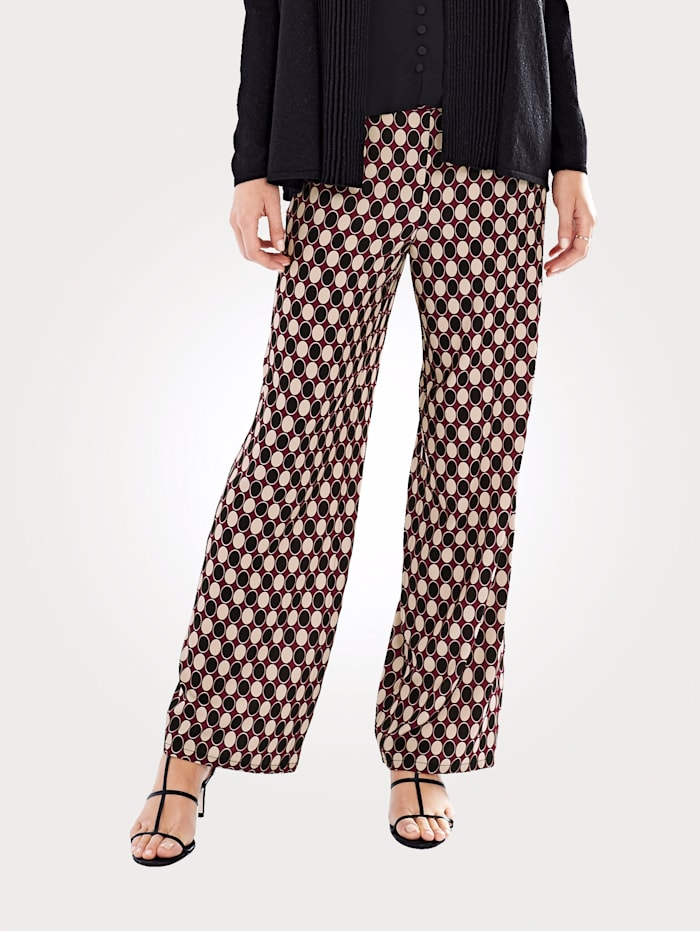 Trousers in a polka dot design