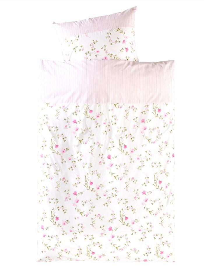 Webschatz Parure de lit Mia en renforcé, Blanc/rose