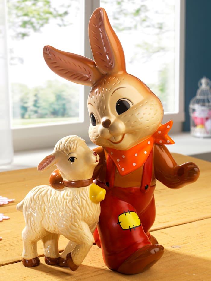 Goebel Osterhase mit Lamm, bunt