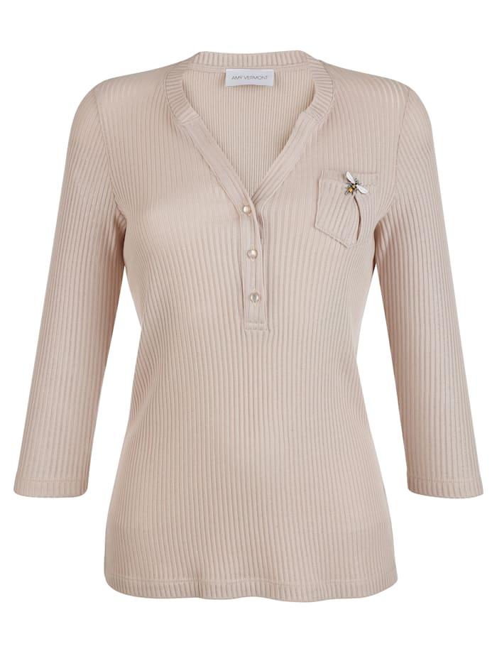 Shirt mit Libellen-Brosche